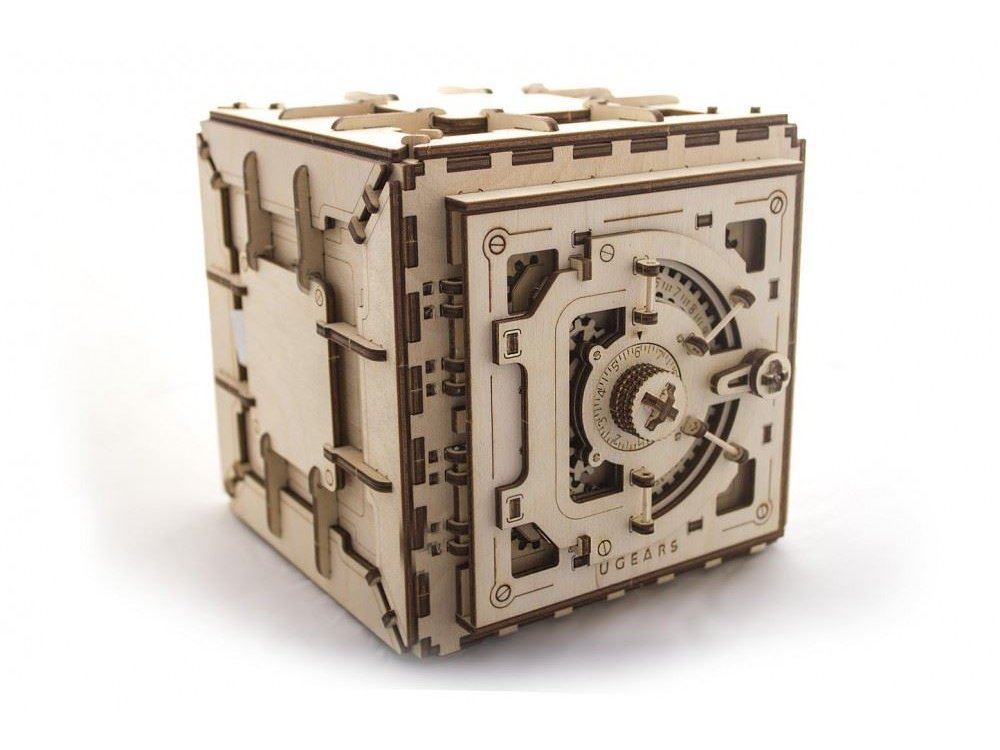 Ugears Safe, Μηχανικό Χρηματοκιβώτιο Ξύλινο Μηχανικό 3D Παζλ, 179 Κομμάτια - 70011