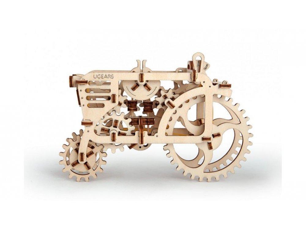 Ugears Tractor, Τράκτωρας Ξύλινο Μηχανικό 3D Παζλ, 97 Κομμάτια - 70003