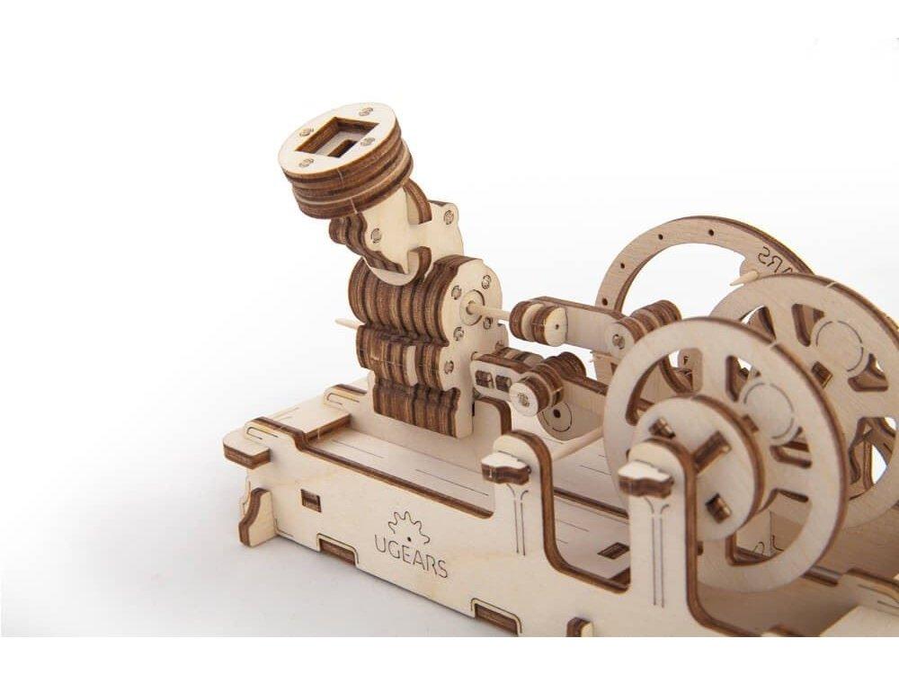 Ugears Πνευματική μηχανή Ξύλινο Μηχανικό 3D Παζλ
