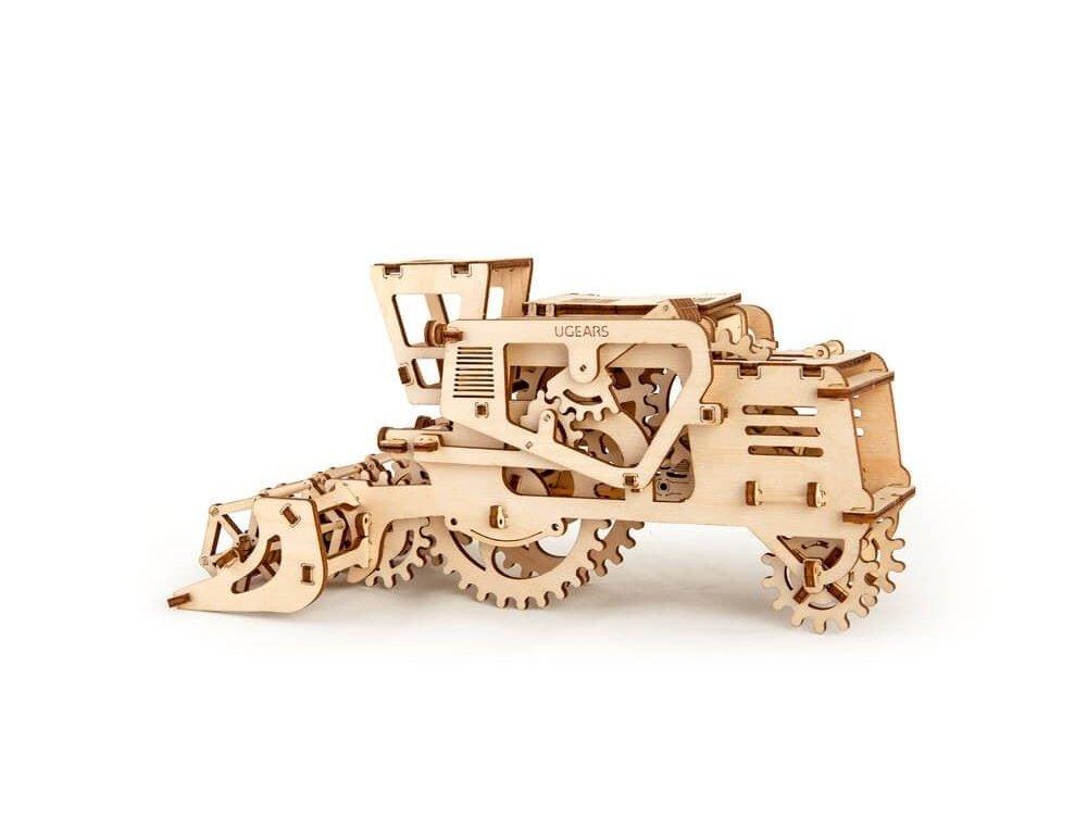 Ugears Combine Harvester, Κομπίνα Ξύλινο Μηχανικό 3D Παζλ, 154 Κομμάτια - 70010