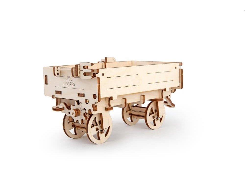 Ugears Tractor Trailer, Τρέιλερ για Τράκτωρα Ξύλινο Μηχανικό 3D Παζλ, 68 Κομμάτια - 70006