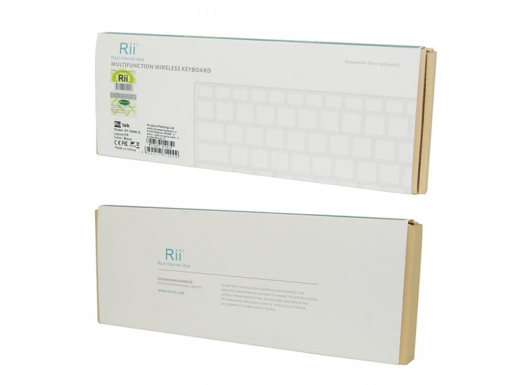 Rii mini k12+ Wireless Keyboard with Mouse Touchpad for Smart TV / Android TV Box / MAG / Consoles / HTPC