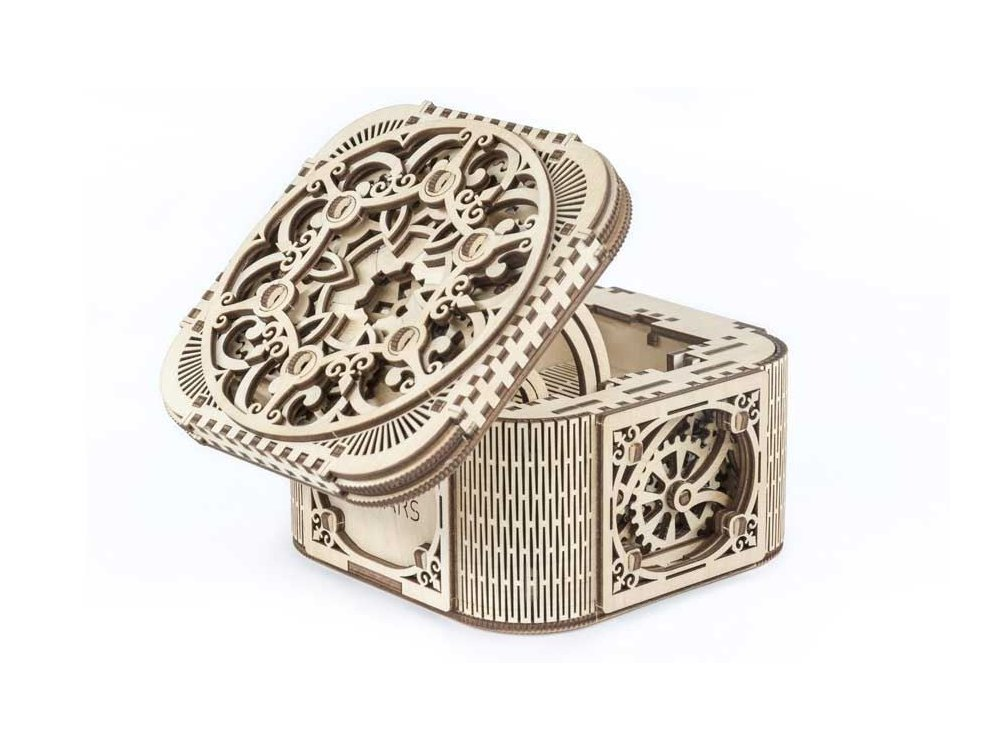 Ugears Treasure Box Ξύλινο Μηχανικό 3D Παζλ