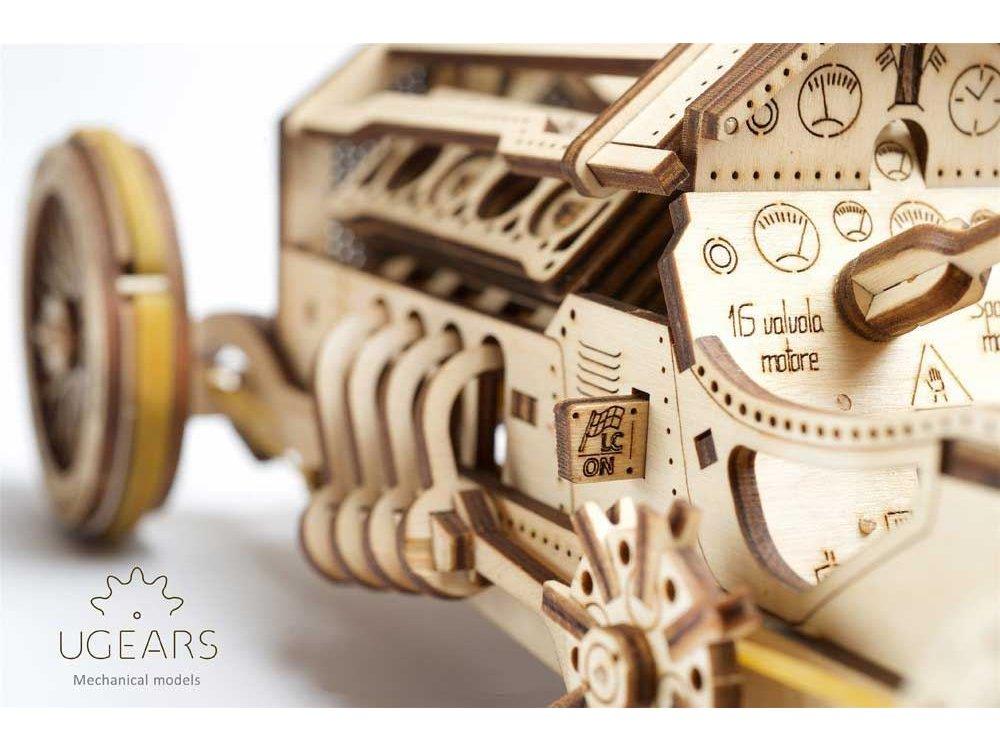 Ugears U-9 Grand Prix Car Ξύλινο Μηχανικό 3D Παζλ, 348 Κομμάτια - 70044