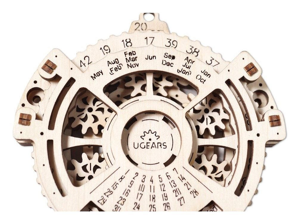 Ugears Date Navigator, Ημερολόγιο Ξύλινο Μηχανικό 3D Παζλ, 24 Κομμάτια - 70036