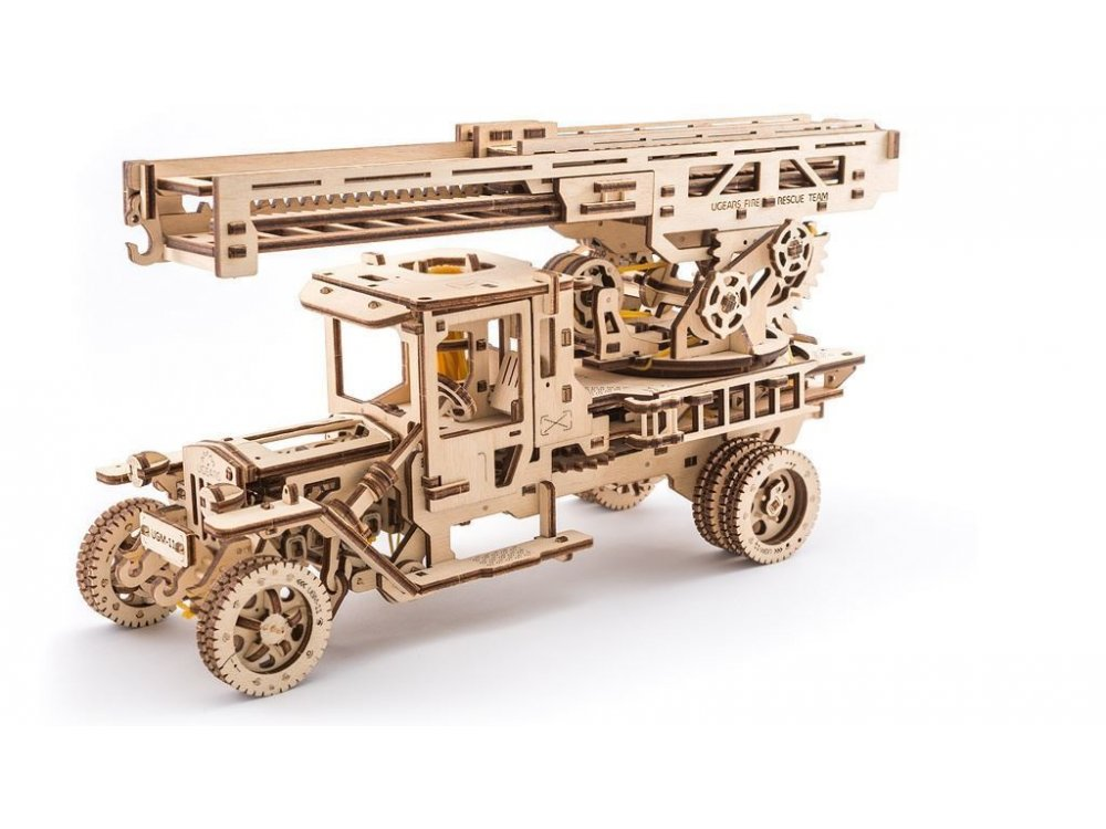 Ugears Fire Ladder Ξύλινο Μηχανικό 3D Παζλ