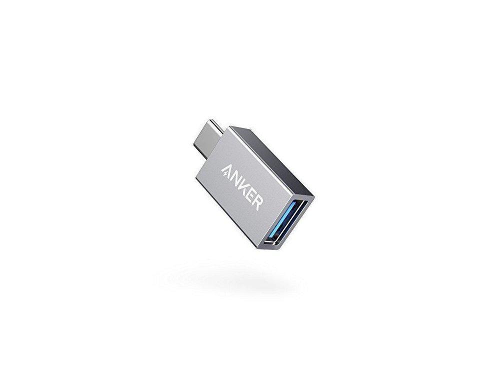 Anker Αντάπτορας USB-C σε USB 3.0 Θηλυκό, OTG Adapter USB-A Female to USB-C Male - A81750A1, Ασημί