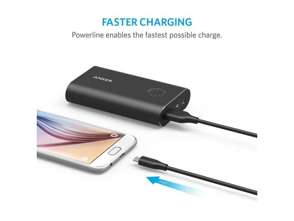 Anker Καλώδιο Powerline Micro USB 1m - A8132G11, Μαύρο