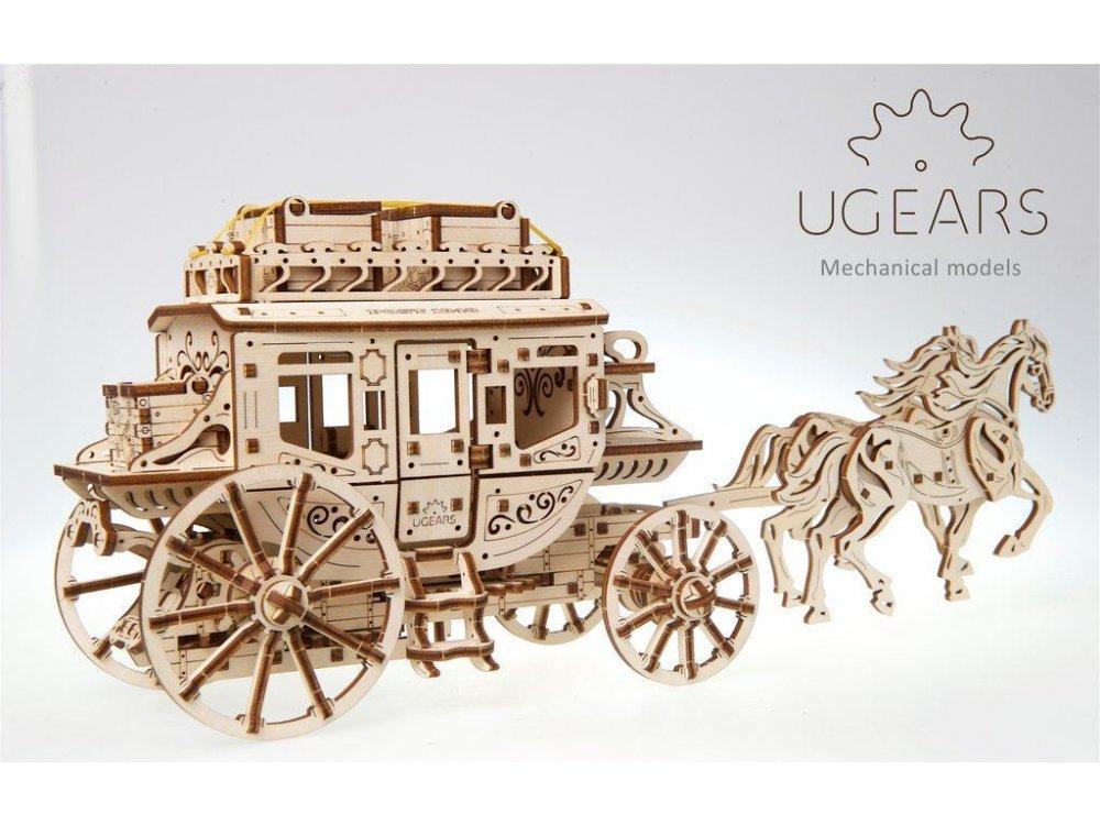 Ugears Stagecoach Model Ξύλινο Μηχανικό 3D Παζλ