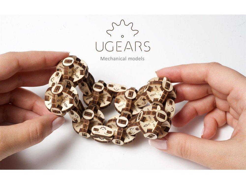 Ugears Flexi-Cubus Ξύλινο Μηχανικό 3D Παζλ