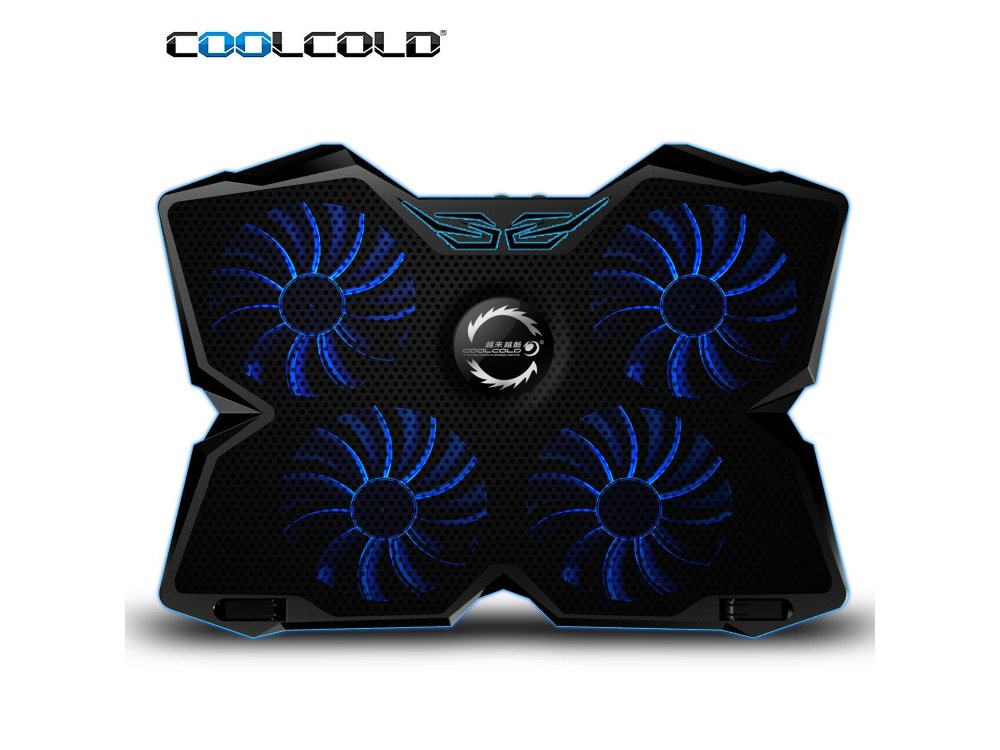 Coolcold Ice Magic 2 Cooling Pad, 4 Fans LED, Μαύρο