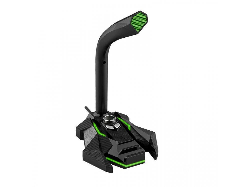 Coolcold GK-1 Μικρόφωνο PC με USB και φωτισμό LED, Πράσινο