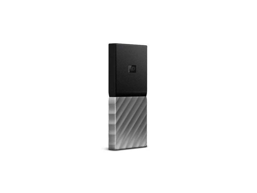 Western Digital MyPassport 256GB SSD Εξωτερικός Σκληρός Δίσκος, Μαύρο/Ασημί - WDBKVX2560PSL-WESN