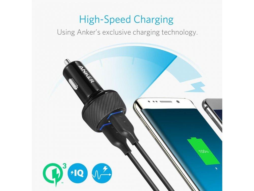 Anker PowerDrive Speed 2 39W QC3.0 2-Port USB Φορτιστής Αυτοκινήτου - A2228H11