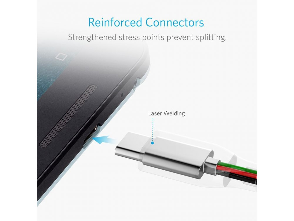 Anker PowerLine Καλώδιο USB-C σε USB 3.0, 3μ - A8167011, Μαύρο