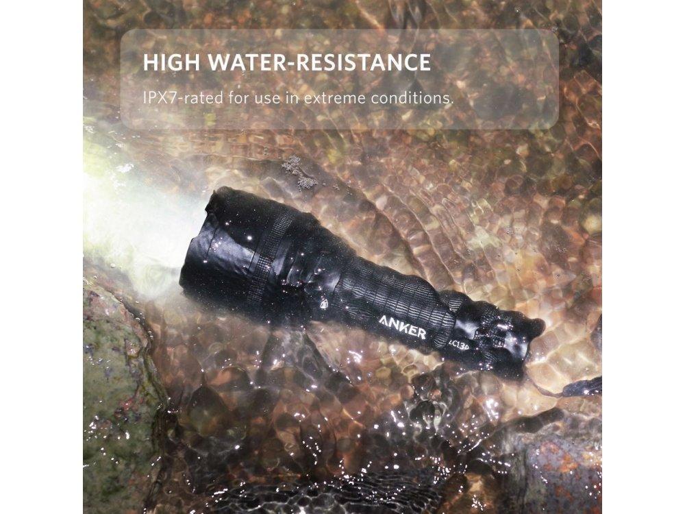 Anker LC130 Ultra-Bright Tactical Flashlight, 1300 Lumens, black - T1422011
