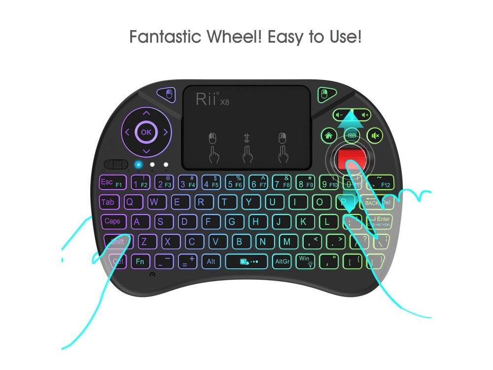 Ασύρματο Πληκτρολόγιο Rii x8 με Mouse Touchpad για Smart TV / Android TV Box / MAG / Consoles / PC / Raspberry