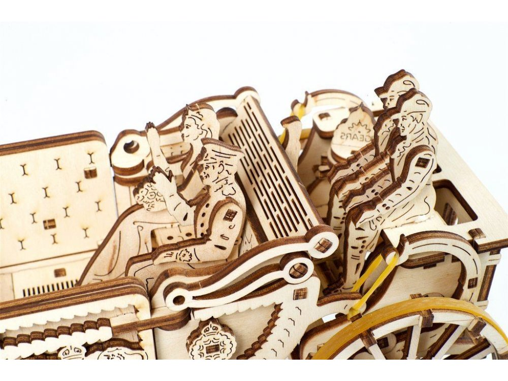 Ugears Royal Wedding Carriage Wooden Mechanical 3D Puzzle