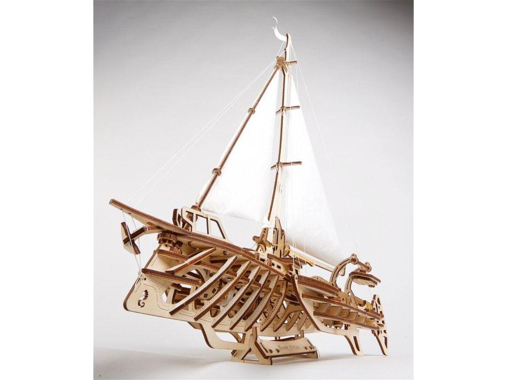 Ugears Trimaran Merihobus, Ξύλινο Μηχανικό 3D Παζλ, 237 Κομμάτια - 70059