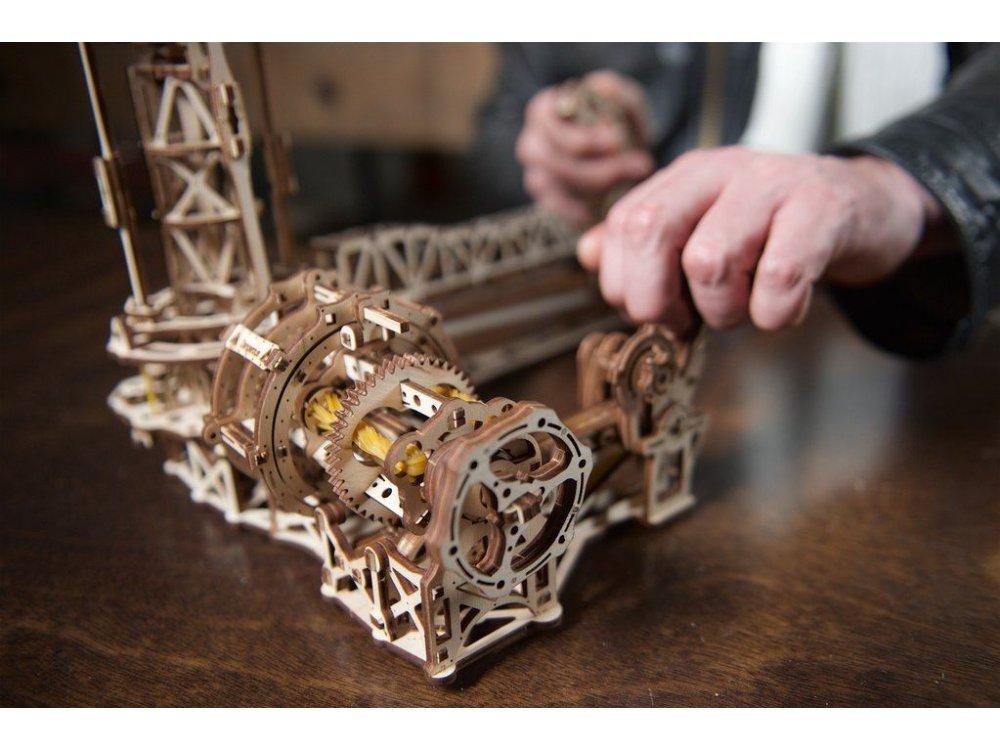Ugears Aviator, Ξύλινο Μηχανικό 3D Παζλ, 726 Κομμάτια - 70053