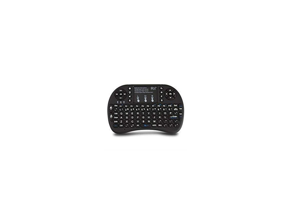 Wireless keyboard Rii i8+ Backlit with Mouse Touchpad for Smart TV / Android TV Box / MAG / Consoles / HTPC