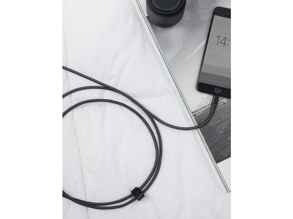 Anker PowerLine+ ΙΙ 1.8μ. Lightning καλώδιο για Apple iPhone / iPad / iPod MFi, Νάυλον ύφανση - A8453011, Μαύρο