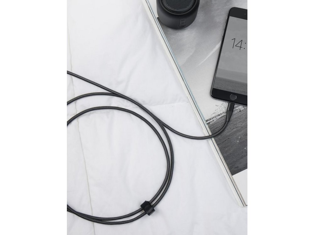 Anker PowerLine+ ΙΙ 3μ. Lightning καλώδιο για Apple iPhone / iPad / iPod MFi, με Νάυλον ύφανση - A8454011, Μαύρο