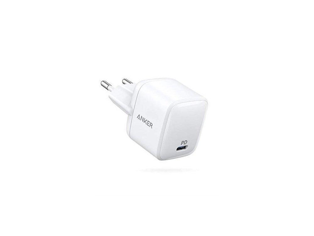 Anker PowerPort Atom PD 1 Φορτιστής πρίζας 30W με Power Delivery και GaN, Λευκό - A2017321