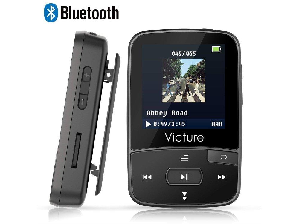 Victure M3 MP3 Player 8GB Clip Sport BT4.0, Μαύρο