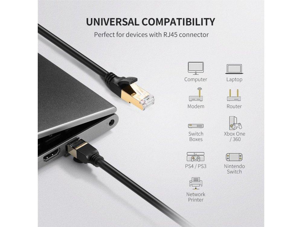 Ugreen STP Cat.7 Καλώδιο Ethernet 10μ., Μαύρο - 11273