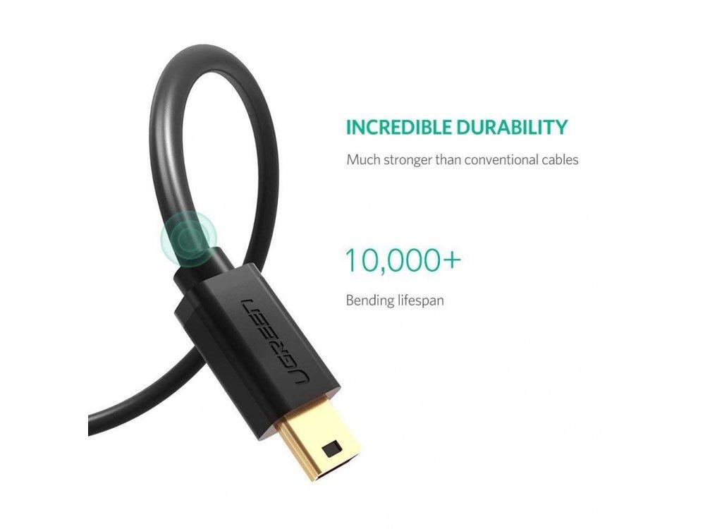 Ugreen USB 2.0 Cable to Mini USB (USB-Mini B) 3ft. - 10355