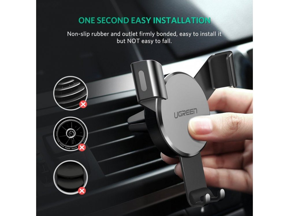 Ugreen Βάση Αυτοκινήτου αεραγωγού για smartphone - 40907