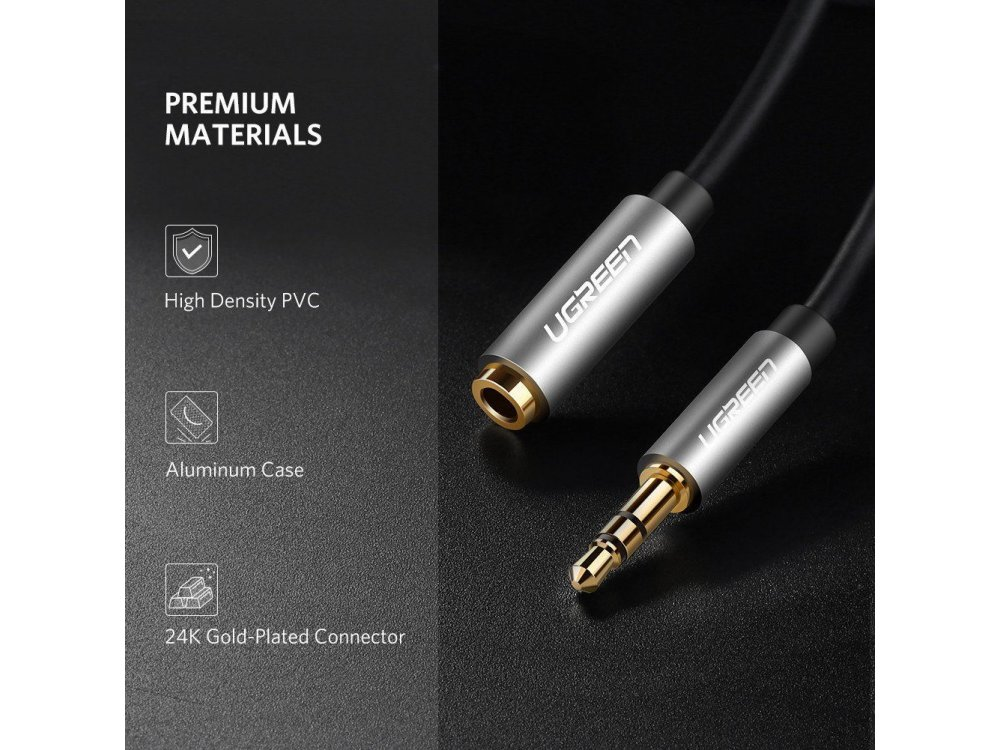 Ugreen cable AUX 6ft. Stereo Male to female 3.5mm - 10594