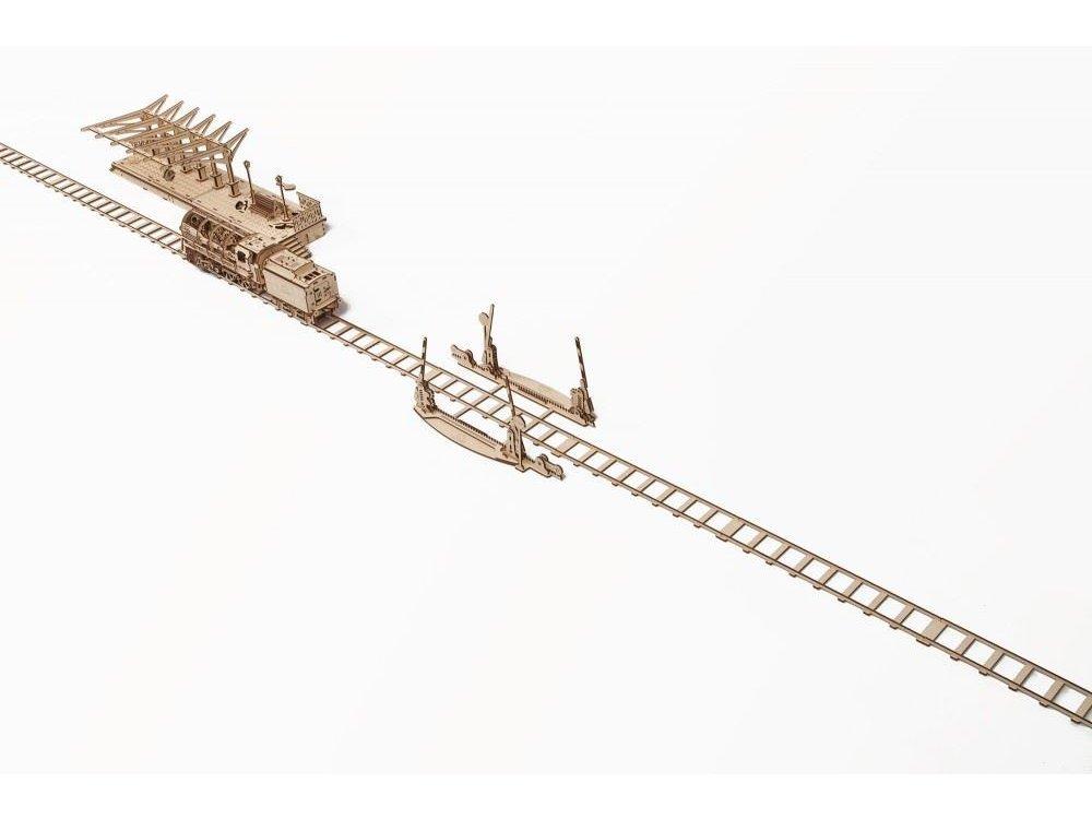 Ugears Ράγες για Locomotive Ξύλινο Μηχανικό 3D Παζλ