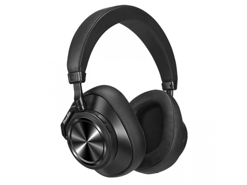 Bluedio T7 Plus Bluetooth V5.0 ακουστικά με Active Noise Cancelling, 40H Μπαταρία, Μαύρα