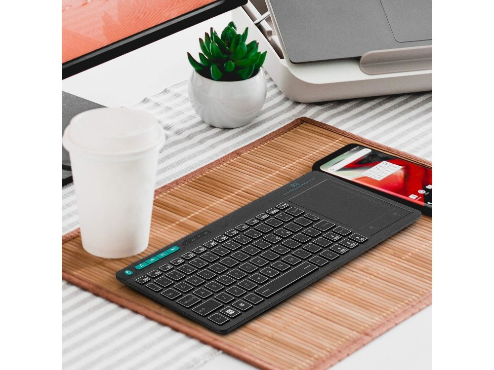 Rii mini k18+ Wireless Backlit Keyboard with Mouse Touchpad for Smart TV / Android TV Box / MAG / Consoles / PC / Raspberry