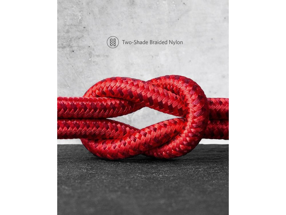 Anker Powerline+ II USB-C cable 6ft. nylon braided - A8463091, red