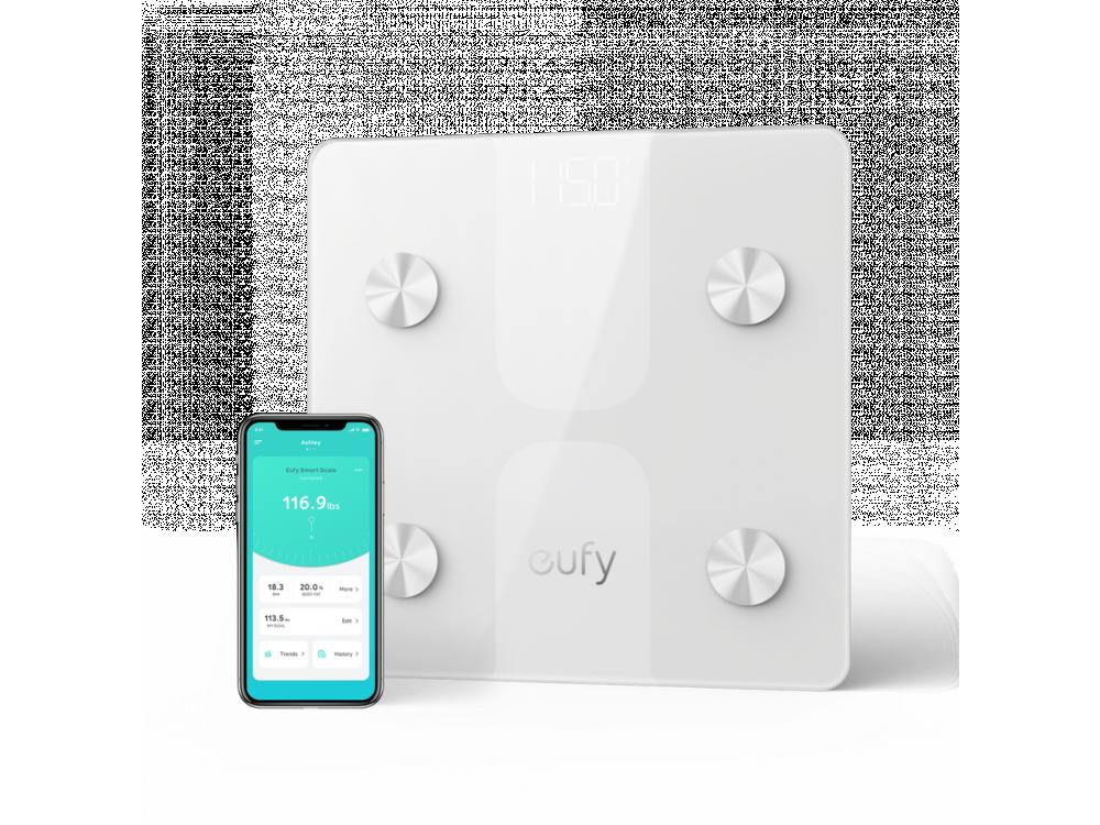 Anker Eufy C1, Έξυπνη ζυγαριά, Λιπομετρητής, Δείκτης Μάζας Σώματος με Fitness APP μέσω Bluetooth, Λευκή - T9146021