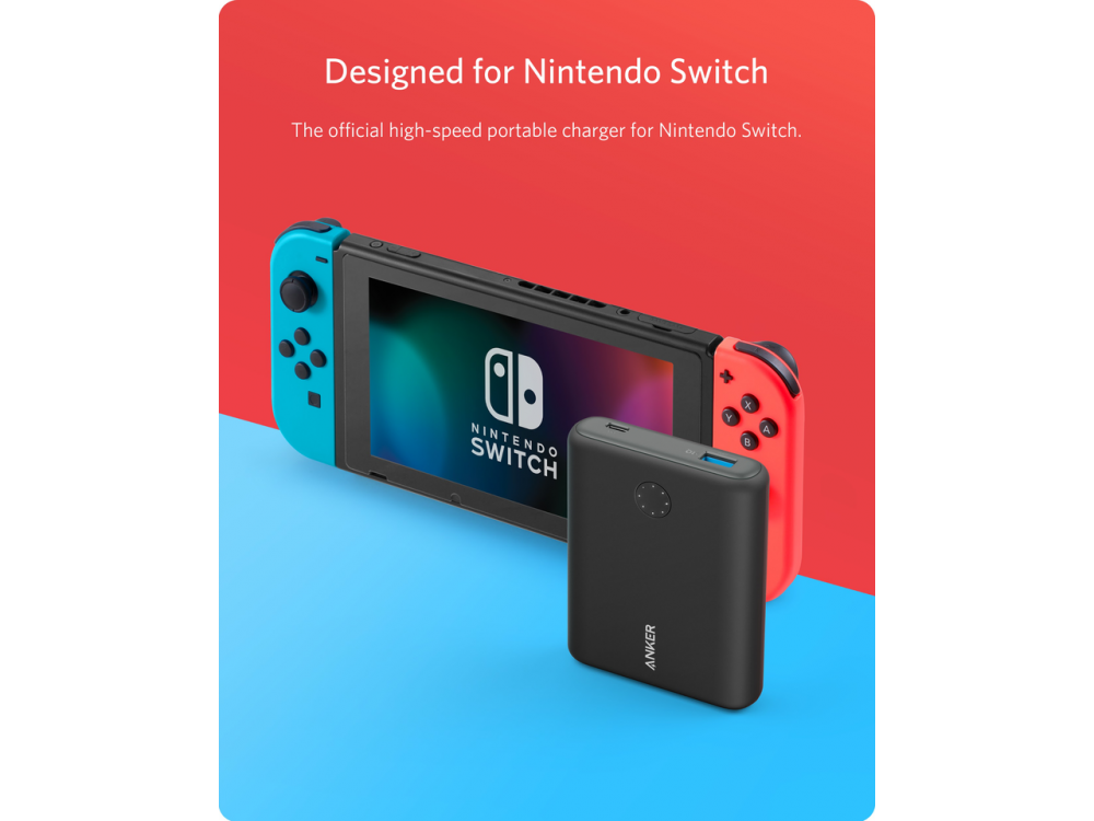 Anker PowerCore Speed 13400 PD Nintendo Switch Edition USB-C Power Bank 13.400mAh Power Delivery - A1241J11, Μαύρο
