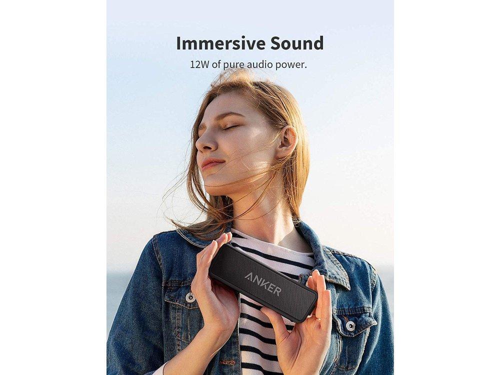 Anker Soundcore 2, Wireless Bluetooth Speaker 12W (Upgraded version) - A3105014, Black
