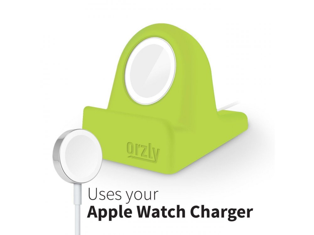Orzly Compact Stand για Apple Watch (Charger, Night Stand Mode Compatible, Integrated Cable Management Slot), Πράσινο