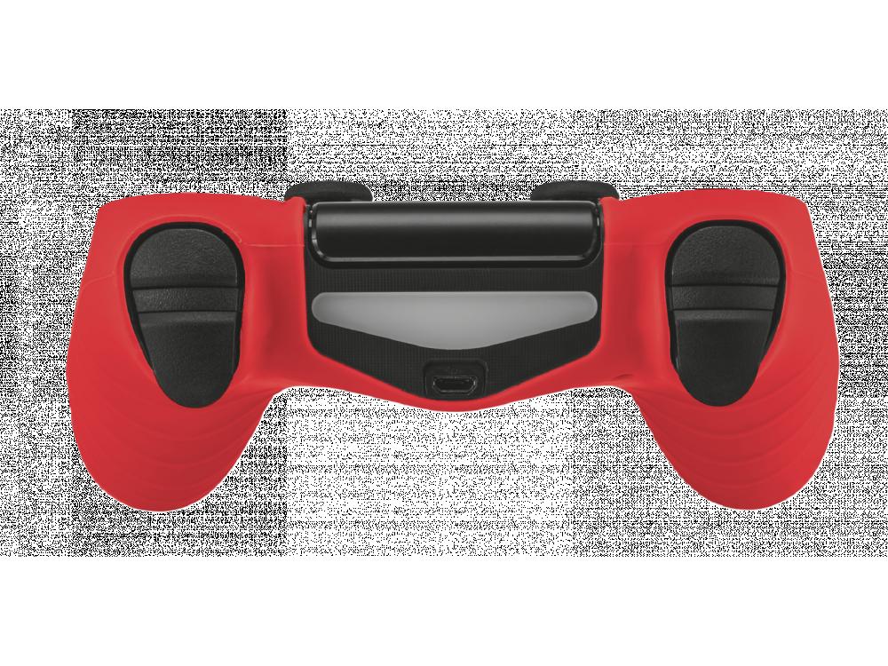 Trust GXT 744R Rubber Skin για PS4 Controller, Κόκκινο - 21214