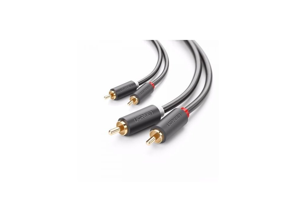Ugreen 2RCA Male to 2RCA Male 3μ. Auxiliary Stereo Audio Cable - 10519