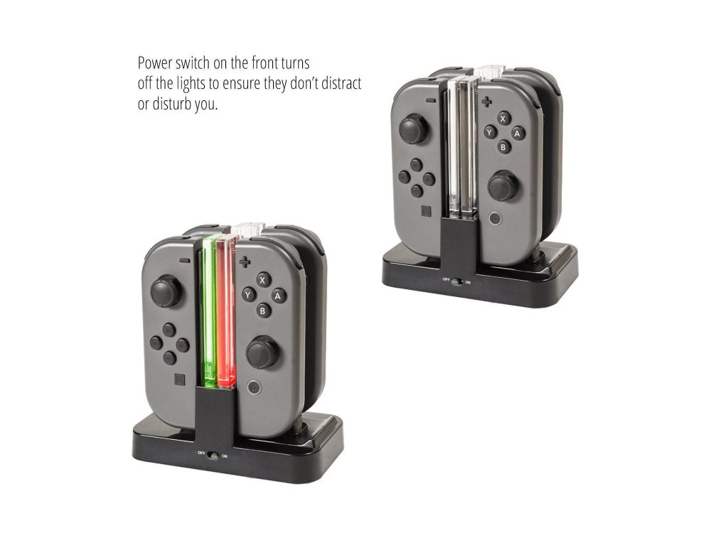 Orzly Nintendo Switch Joy-Con Ultimate Charging Dock (Φόρτιση Έως 4 JoyCons)
