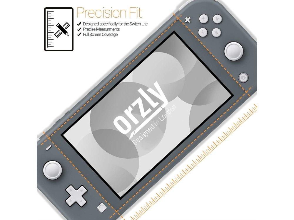 Orzly Nintendo Switch Lite Tempered Glass (0.24mm) Προστατευτικό οθόνης - Σετ των 4