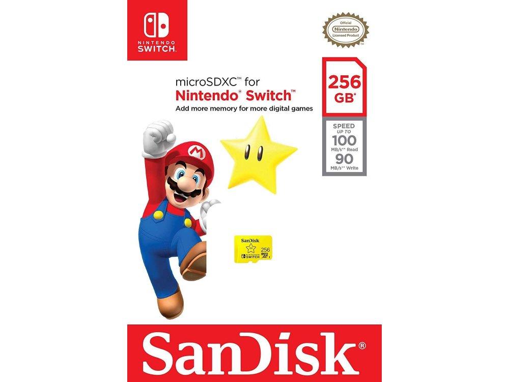 Sandisk micro SDXC 256GB card for Nintendo Switch - SDSQXAO-256G-GNCZN