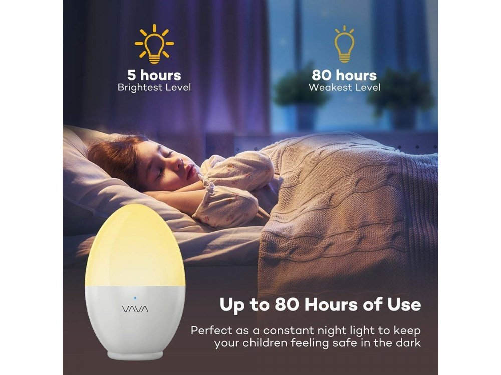 VAVA VA-HP008 Mini Φωτάκι Νυχτός, IP65 Ημι-αδιάβροχο, με Touch Control