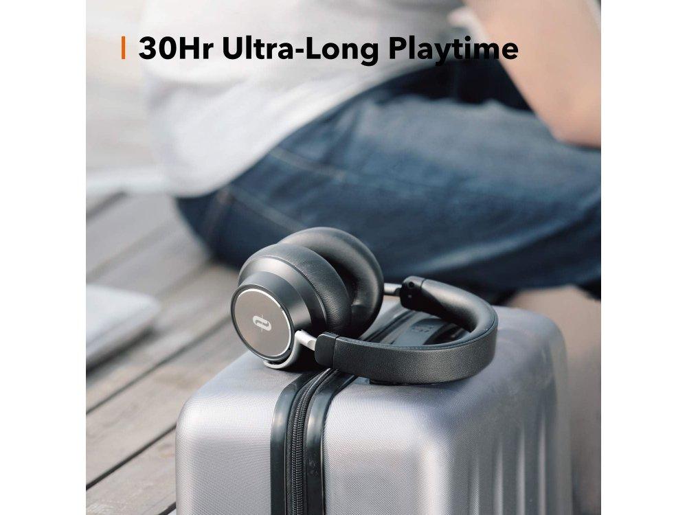 TaoTronics SoundSurge 46 Bluetooth ακουστικά με Active Noise Cancelling, Hyper Speed Charge, CVC6.0, 30H Μπαταρία, Μαύρα