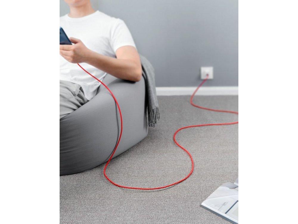 Anker Powerline+ Καλώδιο USB-C 3μ. με Νάυλον ύφανση - A8267091, Κόκκινο
