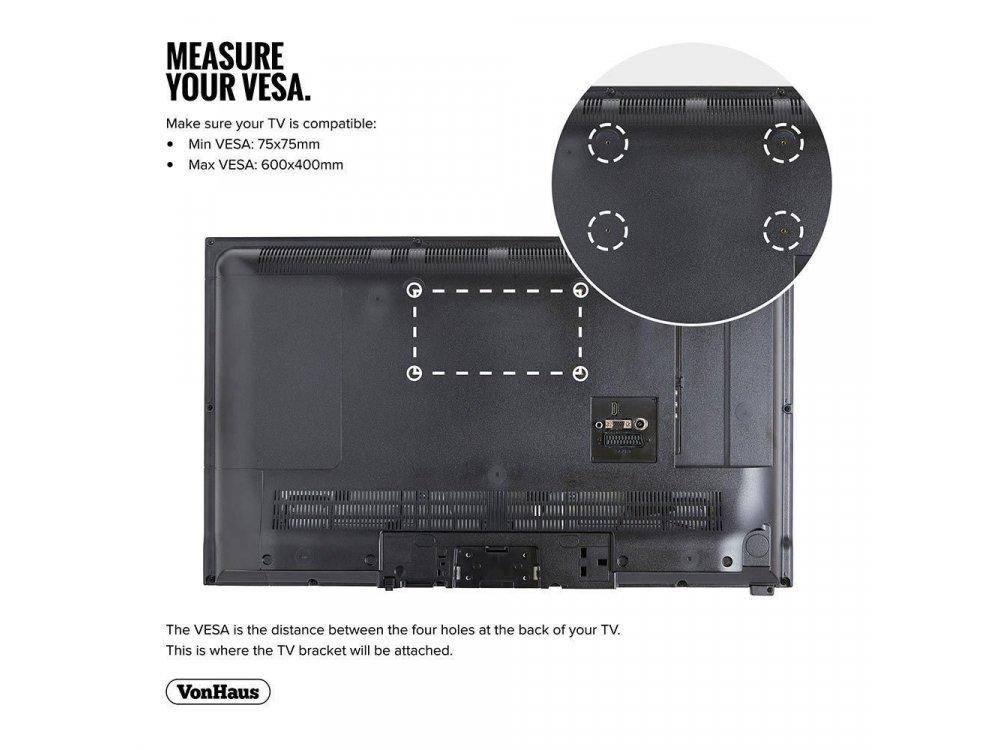 "VonHaus TV Mount, Επικλινόμενη Βάση για TV 32""-70"", έως 75kg - 05/004"